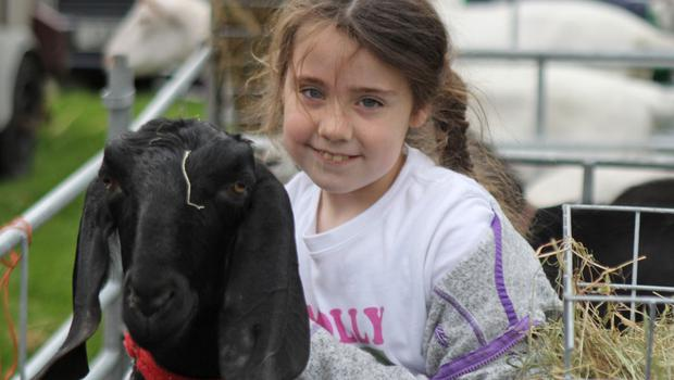 Molly Jane Vance Mallon with her goat Penelope