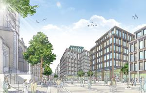 An artist's impression of the proposed Tribeca city centre development
