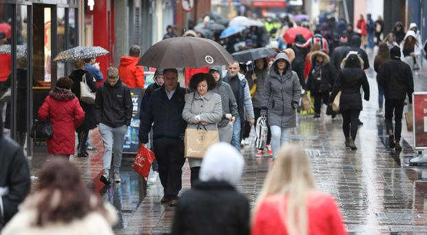 Shoppers in Belfast city centre