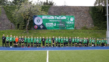 More than 400 young boys and girls play for St Malachy's Old Boys Youth FC, which has launched a ground-breaking new scheme to address the worrying issue of suicide in north Belfast