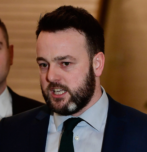 SDLP leader Colum Eastwood was second from bottom on leadership ratings on 43%.