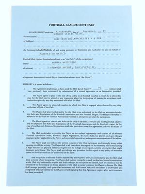 Whiteside's Man Utd contract 1985-90: Estimate £1,000-1,500