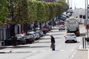 The main thoroughfare in Cookstown, Co Tyrone, remains busy in lockdown