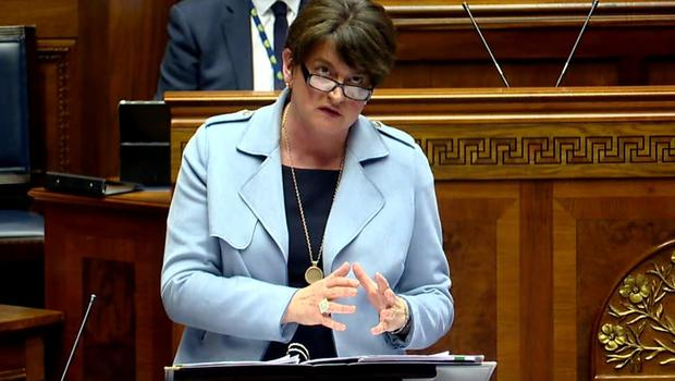Arlene Foster told a Stormont committee of Assembly members there was little prospect of a meeting of minds any time soon (NI Assembly/PA)
