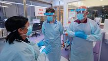 Medical staff don PPE at Craigavon Area Hospital