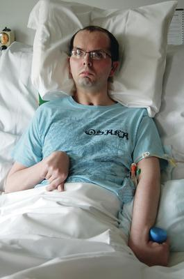 Paul McCauley in hospital