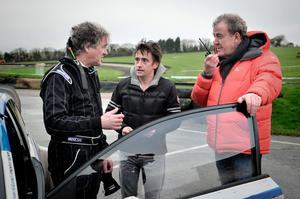 James May, Richard Hammond, Jeremy Clarkson during filming for last week's BBC programme, Top Gear