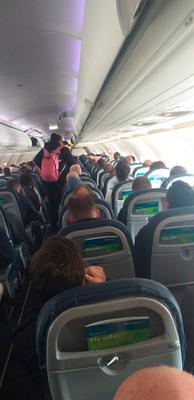Pictures taken on Aer Lingus' Belfast-London flight yesterday morning and posted on Twitter by the BBC's Kelly Bonner