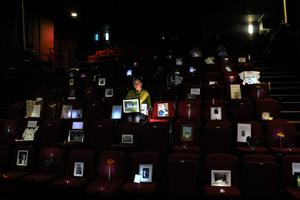 A socially distanced audience at the Playhouse Theatre in Londonderry this week. (PlayhouseTheatre/PA)