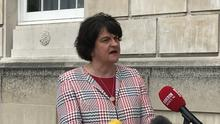 Arlene Foster has rejected speculation her leadership of the DUP may be under threat (Rebecca Black/PA).