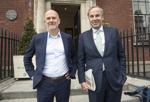 Mediahuis CEO Gert Ysebaert (left) and Chairman Thomas Leysen.