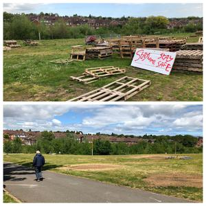 The Orangefield Park site was cleared by members of the local community (David Young/PA)