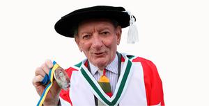 Friel with his UCD Ulysses Medal in 2009