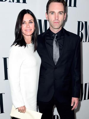 Actress Courteney Cox and musician Johnny McDaid