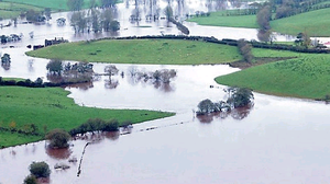 Many areas of Tyrone were under water including Fintona in 2012