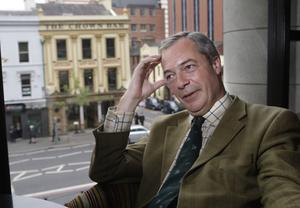 Nigel Farage during a previous visit to Belfast. The Ukip leader says his party offers a new kind of unionism to Northern Ireland