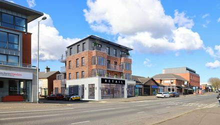An artist's impression of the new apartments proposed on the Lisburn Road