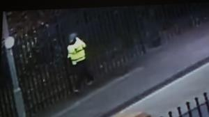 CCTV footage of a man that detectives would like to speak to in connection with the shooting (PSNI/PA)