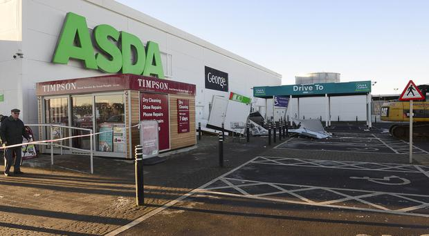 The Asda store in Antrim following robbery