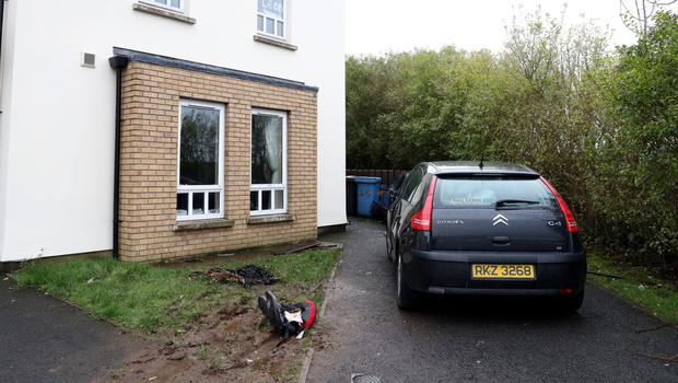 The house in the Killymaddy Hill area of Dungannon which was attacked with petrol bombs