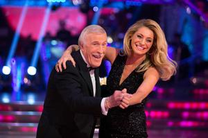 Bruce on Strictly with Tess Daly