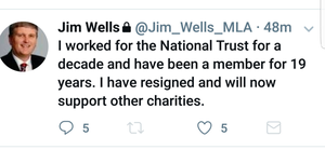 Jim Wells' tweet