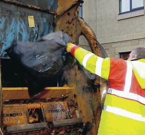 Belfast City Council is considering legal action against a distribution company after nearly half the letters it was supposed to deliver - informing ratepayers of new bin collections - were apparently dumped in a skip. File image