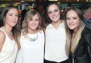 Taking time out to enjoy the relaunch of the Market Place Theatre Bar and Bistro in Armagh are (from left) Kirsty Moody, Mel Johnston, Estelle Johnston and Lesley Anne Diffin