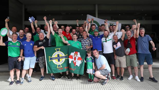 NI fans in Panama City ahead of the match against Panama
