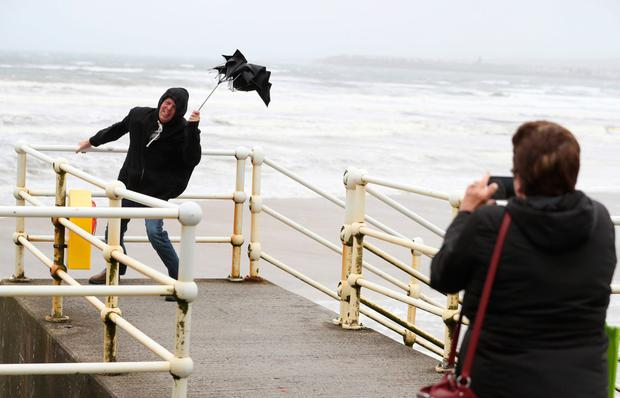 Northern Ireland is set to be battered this weekend with heavy rain and gale force winds expected as Storm Aiden blows in from the Atlantic.  [Stock image]