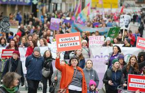 Marchers gathered in Belfast on Saturday for this year's International Women's Day
