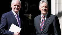 A suspicious object has been discovered at the Stormont Castle headquarters of Peter Robinson and Martin McGuinness near Belfast