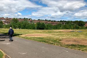 Orangefield Park in east Belfast after bonfire wood was removed yesterday