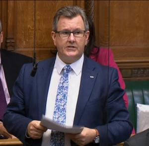 Sir Jeffrey Donaldson is the DUP's Westminster leader.