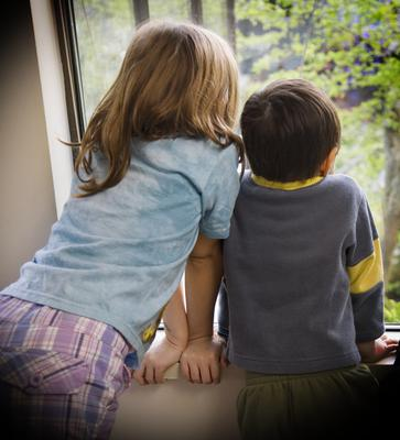 Scores of siblings are being split up in Northern Ireland each year. Picture posed