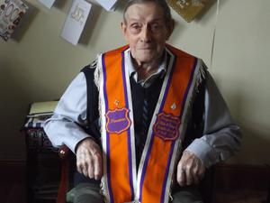 William Hamilton, who turned 100 years old in January and is believed to be the Orange Order's oldest member