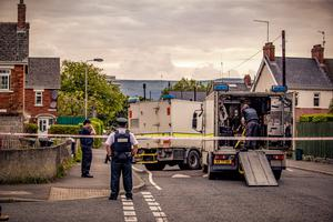ATO at the scene of a security alert in Haywood Avenue in Belfast