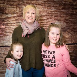 Vicki Ewart with her daughters Bethany and Olivia
