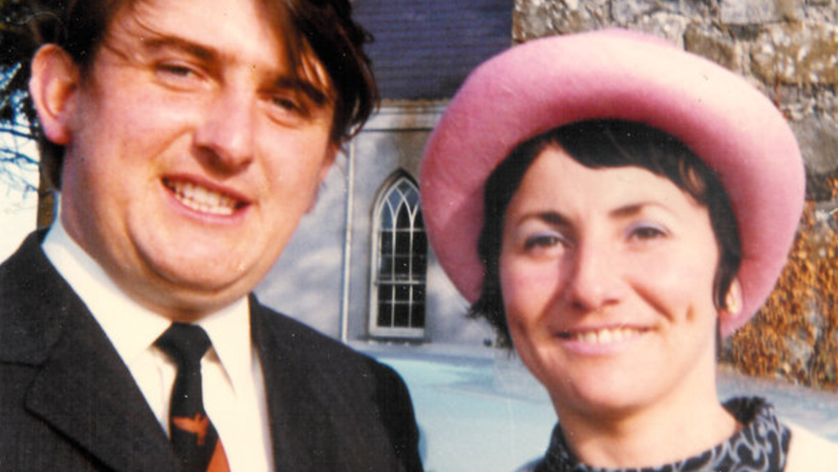 Happy couple: Derek and Winifred at their wedding back in 1971