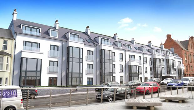 Architectural rendering of the West Quays development