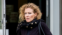 Fiona Donohoe, mother of Noah Donohoe, leaves Laganside Court in Belfast yesterday