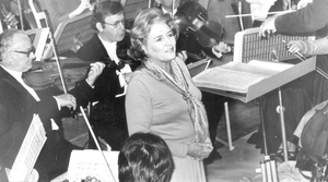 Renowned: Soprano Heather Harper singing in Belfast with the RTE Symphony Orchestra in their concert at the Queen's Festival in 1978