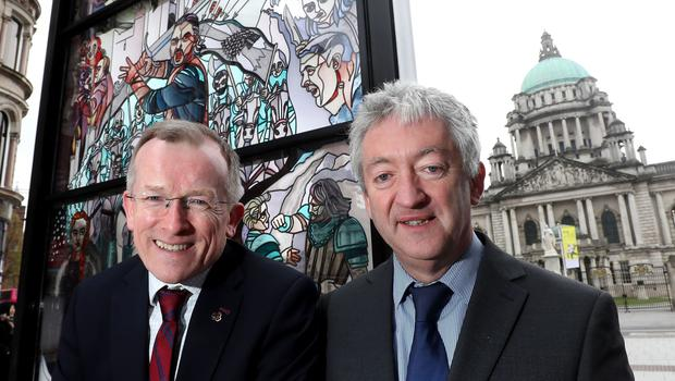 Tourism chief John McGrillen, right, said fewer French and German visitors are coming to NI (Tourism NI/PA).
