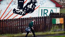 An IRA mural in Newry Co Down, Tuesday December 7, 2004.