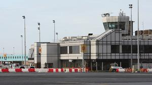 The captain of the United Airlines plane made the decision to touch down at Belfast International Airport