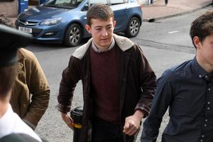 Timothy Boomer arriving at Enniskillen Courthouse for sentencing yesterday