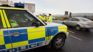 Bottles and stones were hurled at police as officers tried to deal with street disorder in Londonderry