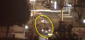 Crucial role: CCTV footage of two cars police say were used in the murder bid at Shandon Park Golf Club