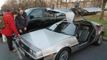 The DeLorean's silver gull wing door design was immortalised by the 1985 Hollywood film starring Michael J Fox