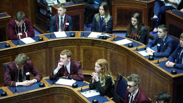 Participants at the anti-bullying forum at Stormont